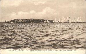Saint Malo Ille et Vilaine Bretagne Vue prise de la Cite Regate Kat. Saint Malo