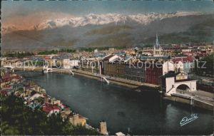 Grenoble Vue generale et la Chaine des Alpes Kat. Grenoble