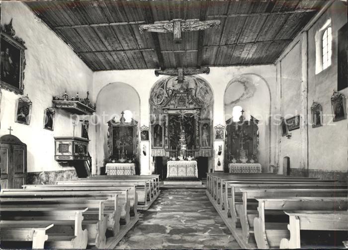 Tiefencastel Kirche St Peter Muestail Kat. Tiefencastel