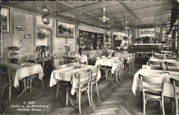 Verrieres Ardennes Cafe de la Frontiere Kat. Verrieres