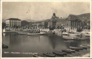 Neuchatel NE Le port et la poste / Neuchatel /Bz. Neuchâtel