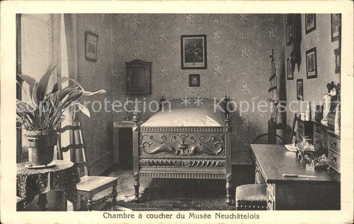 Neuchatel NE Chambre a coucher du Musee Neuchatelois / Neuchatel /Bz. Neuchâtel
