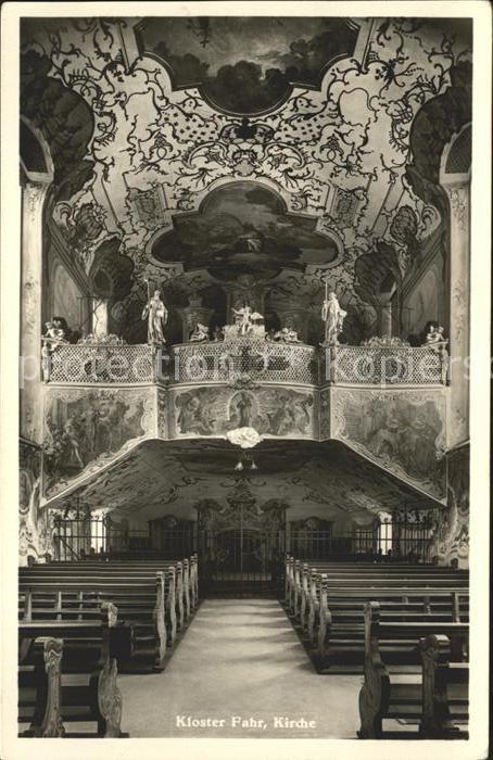 Fahr Kloster Kirche Inneres Kat. Unterengstringen