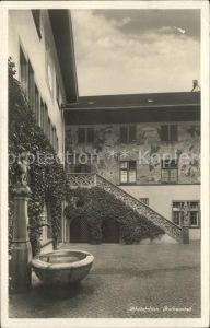 Rheinfelden AG Rathaushof mit Brunnen Kat. Rheinfelden