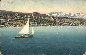 Zollikon Panorama Segelboot Kat. Zollikon