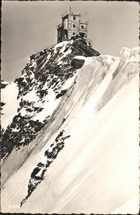 Jungfraujoch Meteor Station an der Sphinx Kat. Jungfrau