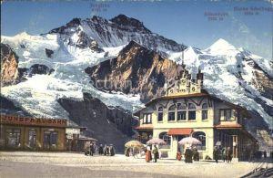 Jungfraubahn mit Jungfrau Silberhorn Kl Scheidegg Kat. Jungfrau
