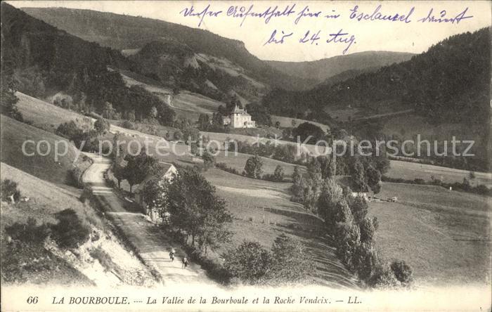 La Bourboule La Vallee de la Bourboule et la Roche Vendeix Kat. La Bourboule