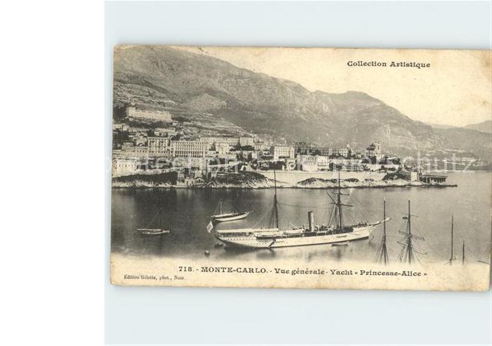 Monte Carlo Vue generale Yacht Princess Alice Kat. Monte Carlo