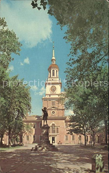 Philadelphia Pennsylvania Independence Hall Kat. Philadelphia