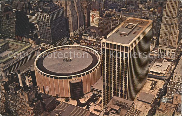 New York City Fliegeraufnahme Madison Square Garden Center / New York /