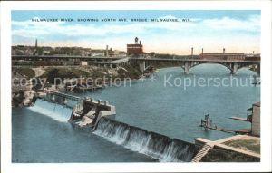 Milwaukee Wisconsin River NOrth Ave Bridge Kat. Milwaukee