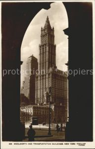 New York City Woolworth and Transportation Building / New York /