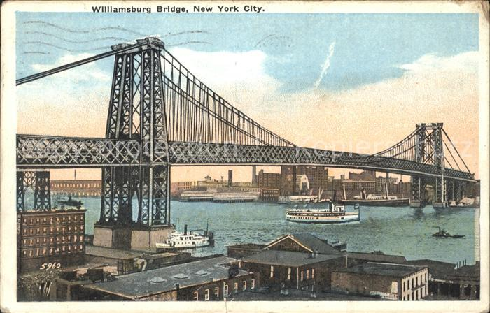 New York City Williamsburg Bridge / New York /