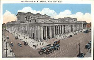 New York City Pennsylvania R. R. station / New York /