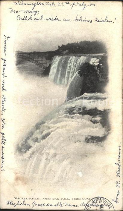 Niagara Falls New York American Fall Goat Island  Kat. Niagara Falls
