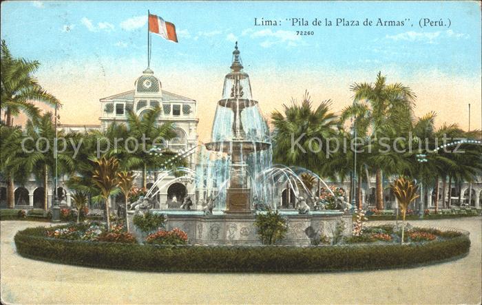 Lima Lima Pila de la Plaza de Armas Kat. Lima