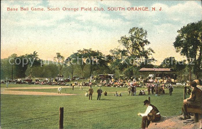 South Orange Base Ball Game Field Club / South Orange /