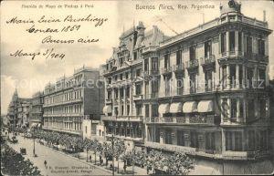 Buenos Aires Avenida de Mayo de Piedras a Peru Kat. Buenos Aires