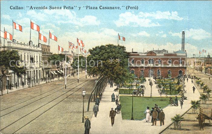 Callao Peru Avenida Saenz Pena Plaza Casanave / Callao /