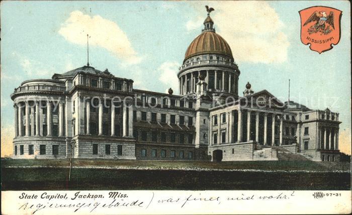 Jackson Mississippi State Capitol  Kat. Jackson