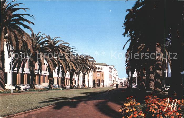 Rabat Rabat Sale Avenue Mohammed V et la poste Kat. Rabat