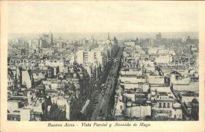 Buenos Aires Vista Parcial Avenida de Mayo Kat. Buenos Aires