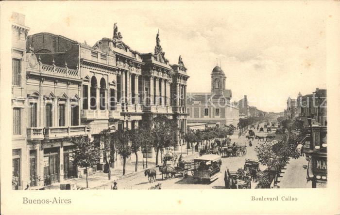 Buenos Aires Boulevard Callao Kat. Buenos Aires