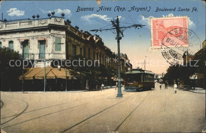 Buenos Aires Boulevard Santa Fe Kat. Buenos Aires