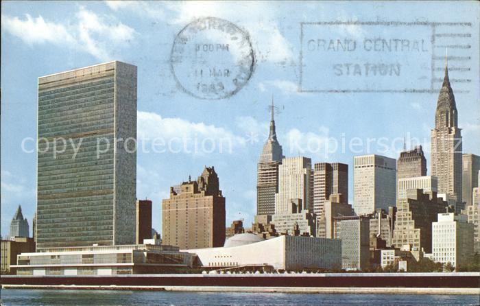 New York City United Nations Building Skyline Empire State Building / New York /