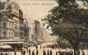 Melbourne Victoria Collins Street Strassenbahn Autos / Melbourne /