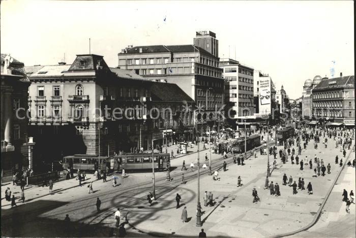 Zagreb Platz Strassenbahn Kat. Zagreb