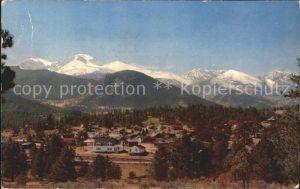 Estes Park Panorama Rocky Mountains National park Kat. Estes Park
