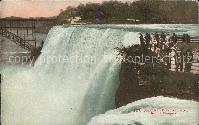 American Falls Niagara Falls from Goat Island National Park Kat. American Falls