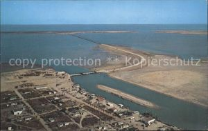 Port Isabel Causeway Padre Island Laguna Madre aerial view Kat. Port Isabel