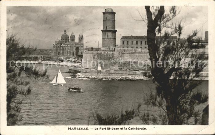 Marseille Fort Saint Jean et la Cathedrale Kat. Marseille