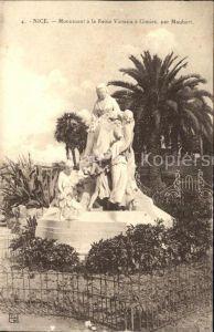 Cimiez Monument a la Reine Victoria par Maubert Kat. Nice