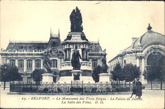 Belfort Alsace Monument des Trois Sieges Palais de Justice Salle des Fetes Kat. Belfort