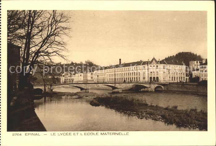 Epinal Vosges Lycee et l Ecole Maternelle Collection Les Vosges Kat. Epinal