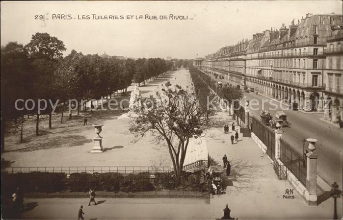 Paris Les Tuileries et Rue de Rivoli Monument Kat. Paris