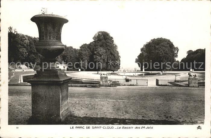 Saint Cloud Hauts de Seine Parc Bassin des 24 jets Kat. Saint Cloud