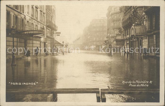 Paris Rue de la Pepiniere et Place du Havre Inondations 1910 ...