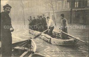 Paris Crue de la Seine Inondations 1910 Hochwasser Katastrophe Kat. Paris
