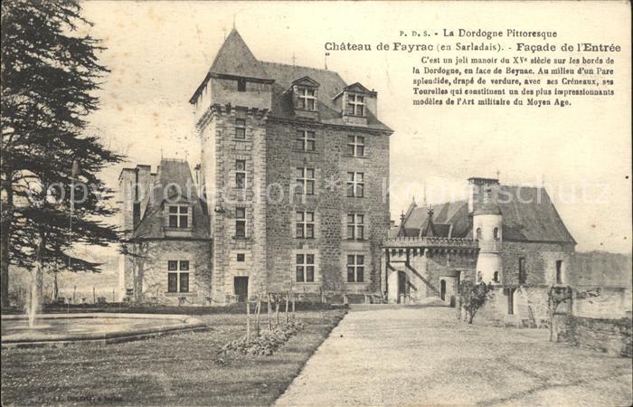 Castelnaud la Chapelle Chateau de Fayrac Facade Histoire Kat. Castelnaud la Chapelle