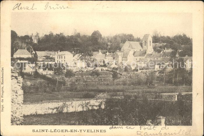 Saint Leger en Yvelines Vue generale Eglise Kat. Saint Leger en Yvelines