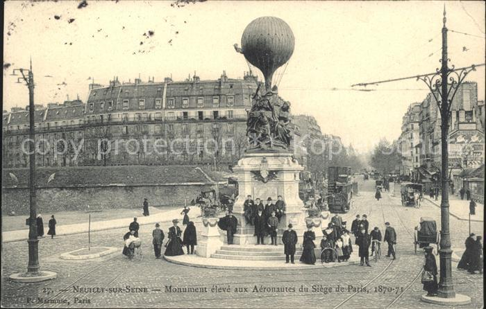 Neuilly sur Seine Monument aux Aeronautes du Siege de Paris Kat. Neuilly sur Seine