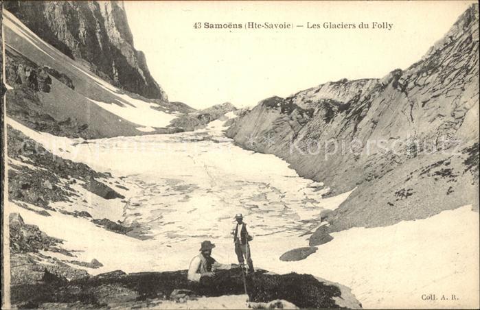 Samoens Glaciers du Folly Gletscher Bergsteiger Kat. Samoens