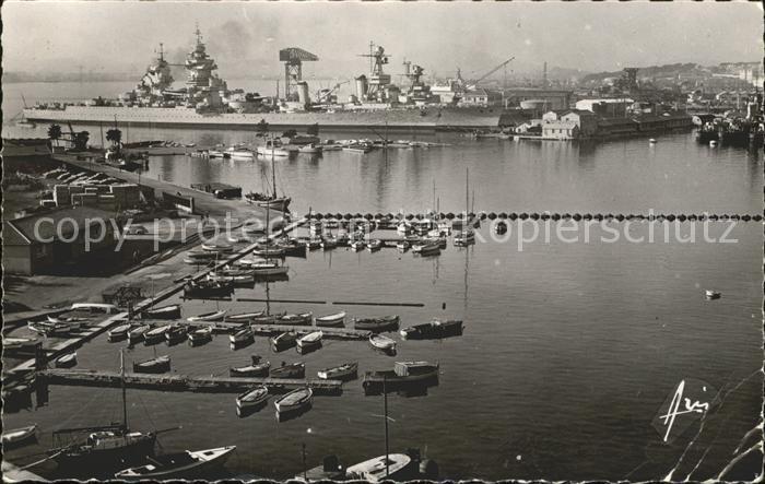Toulon Var Croiseur Le Richelieu Port Kreuzer Schiff Kat. Toulon