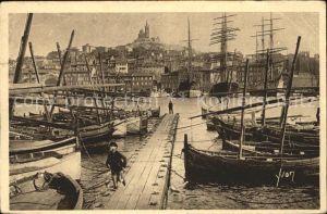 Marseille Vieux Port et la Ville Bateaux Kat. Marseille