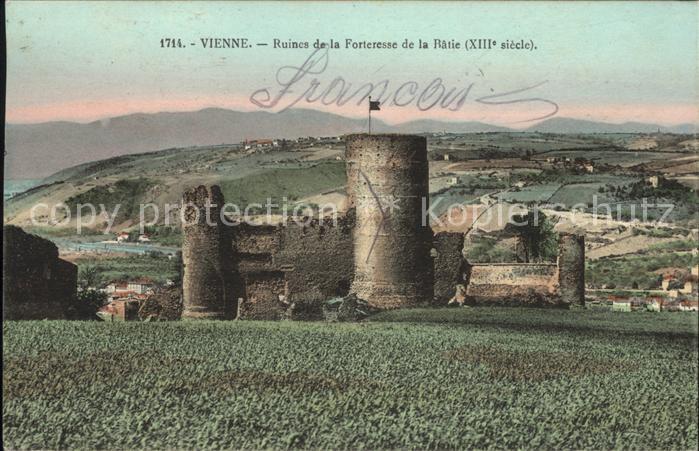 Vienne Isere Ruines de la Forteresse de la Batie XIII siecle Kat. Vienne